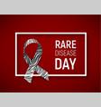 symbol of rare disease awareness day ribbon with vector image