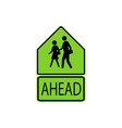 usa traffic road signs school advance warning vector image vector image