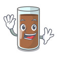 waving chocolate milk the containing nutrition vector image vector image