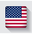 Web button with flag of the USA vector image