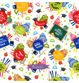 welcome back to school pattern vector image