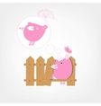 Wooden Boards Fence Piggy vector image vector image