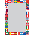 world flags icons frame vector image vector image