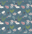 underwater fish life seamless pattern vector image