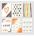 Hand drawn collection of journaling cards with vector image