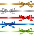 5 ribbons vector image vector image