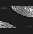 abstract black circles pattern shape on dark vector image vector image