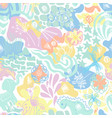 abstract sunny summer childish seamless vector image vector image