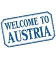 Austria - welcome blue vintage isolated label vector image vector image