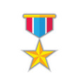 award star medal - concept icon in flat graphic vector image