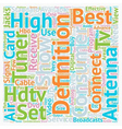 best hdtv antenna text background wordcloud vector image vector image