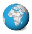 blank political map africa 3d earth globe