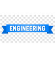 blue tape with engineering title vector image