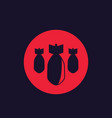 bombs bombardment icon vector image vector image
