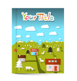 Book or Flyer - Leaflet Cover Design with vector image vector image