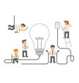 business idea concept in flat cartoon design vector image