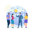 businessman have idea innovation and inspiration vector image