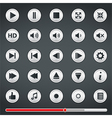 Buttons for Media Player vector image vector image