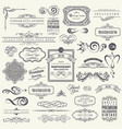 calligraphic design elements and frames vintage vector image