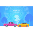 car accident crash on road head-on collision vector image