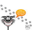 cat blaming dog for paw prints vector image vector image