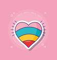 colorful heart icon vector image vector image