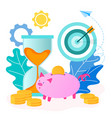concept of saving money and time vector image vector image
