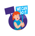 crowd women feminist vector image vector image