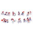 cycling tour horizontal set vector image