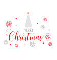 decorative christmas text background vector image vector image