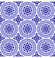 decorative round pattern vector image vector image