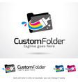 document folder logo template vector image
