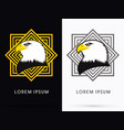 eagle head face vector image vector image