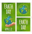 earth day handwriting lettering planet in open vector image