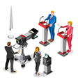 Election News Infographic Live Video Isometric