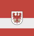 flag brandenburg vector image vector image
