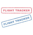 flight tracker textile stamps vector image vector image
