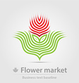 Flower market business icon vector image vector image
