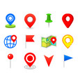 geo pin as logo geolocation and navigation icon vector image vector image