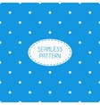 Geometric blue seamless polka dot pattern with vector image vector image