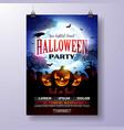 halloween party flyer vector image vector image
