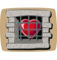 heart imprisoned vector image
