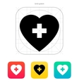 Heart with medical cross icon vector image