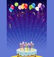 holiday card with cake vector image vector image