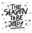 holly jolly xmas lettering vector image
