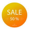 hot sale banner 50 off special offerbig sale vector image vector image