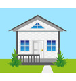 House on land vector image