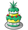 jamaican cake cartoon isolated on white vector image vector image