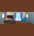 little boy sleeping on bed vector image vector image