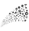 medical symbols source stream vector image vector image